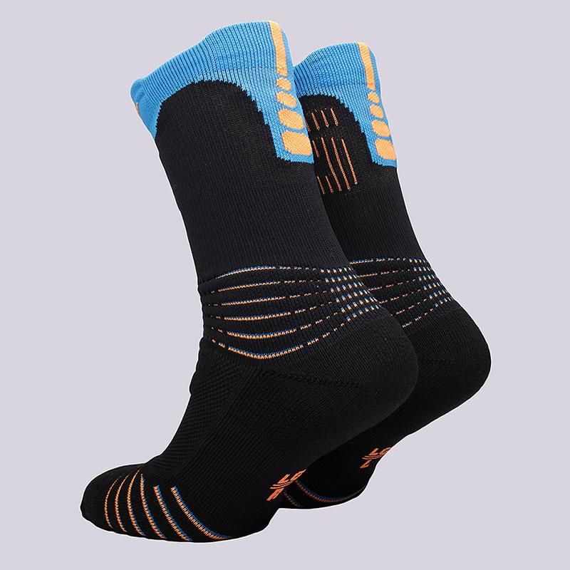 мужские черные, голубые  носки nike elite kd versatility crew socks SX5375-013 - цена, описание, фото 2