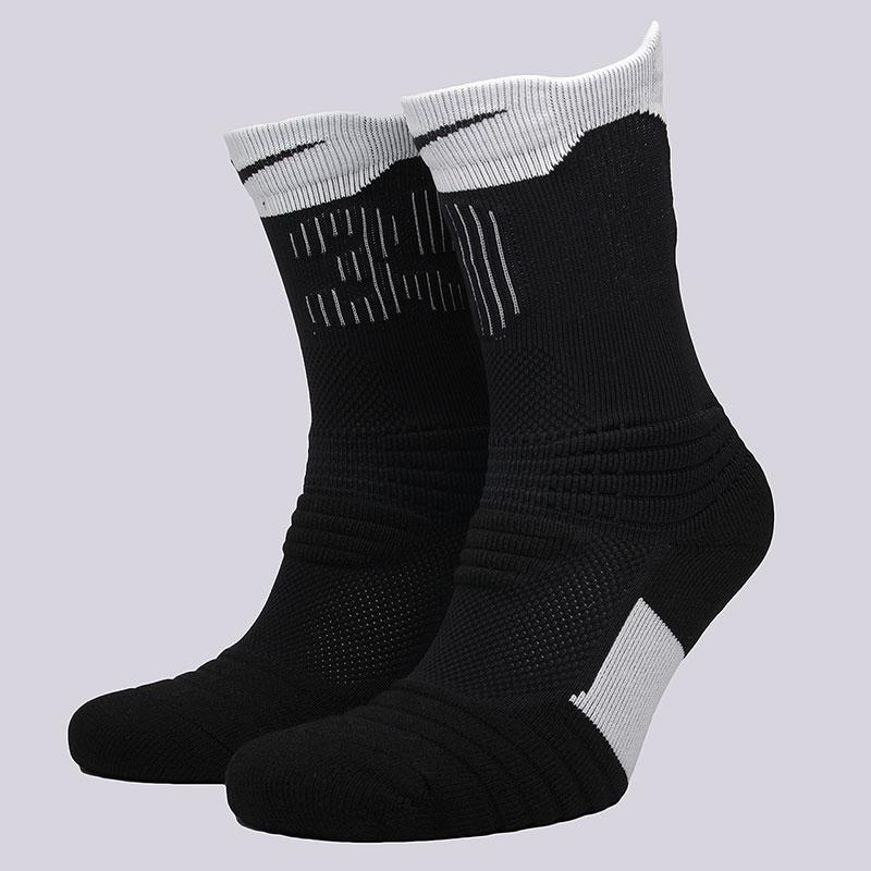 Носки Nike Elite KD Versatility Crew SocksНоски<br>57% нейлон, 28% полиэстер,8% хлопок, 7%эластан<br><br>Цвет: Черный, белый<br>Размеры US: M;L<br>Пол: Мужской