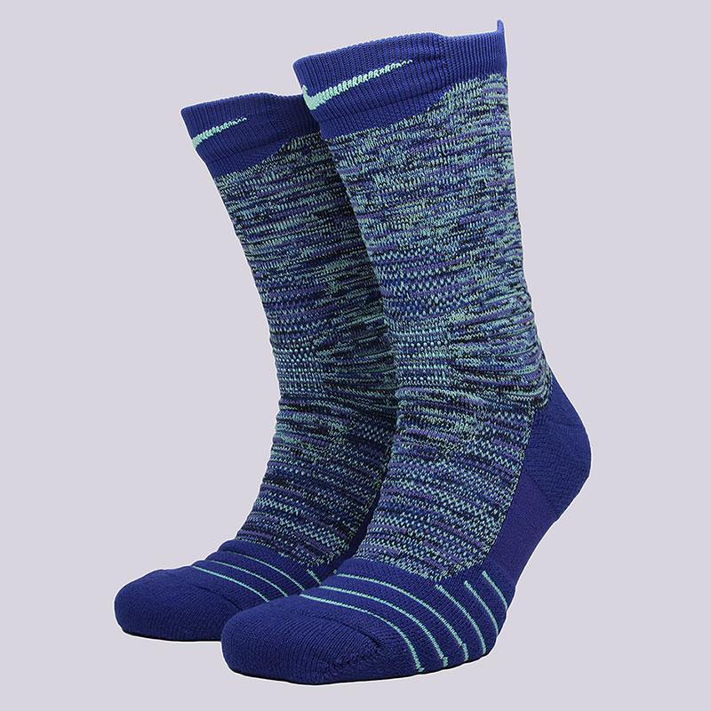 Носки Nike M NK ELT Versa CrewНоски<br>58% нейлон, 29% полиэстер, 9% хлопок, 4%эластан<br><br>Цвет: Синий<br>Размеры US: M<br>Пол: Мужской