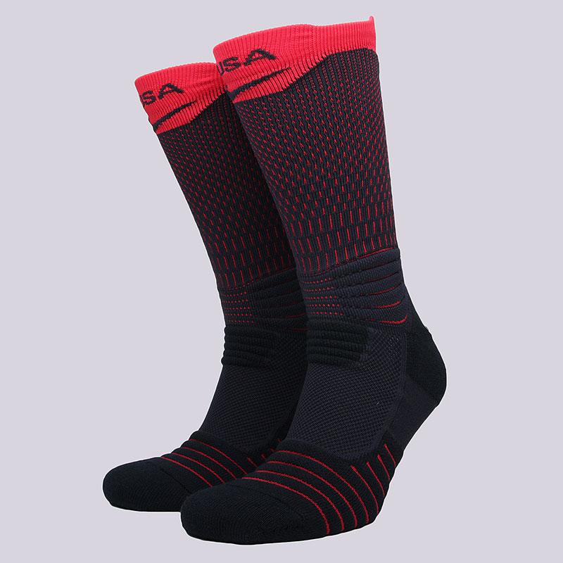 Носки Nike U NK ELT Versa Crew USABНоски<br>58% нейлон, 29% полиэстер, 9% хлопок, 4%эластан<br><br>Цвет: Синий, красный<br>Размеры US: L;XL<br>Пол: Мужской