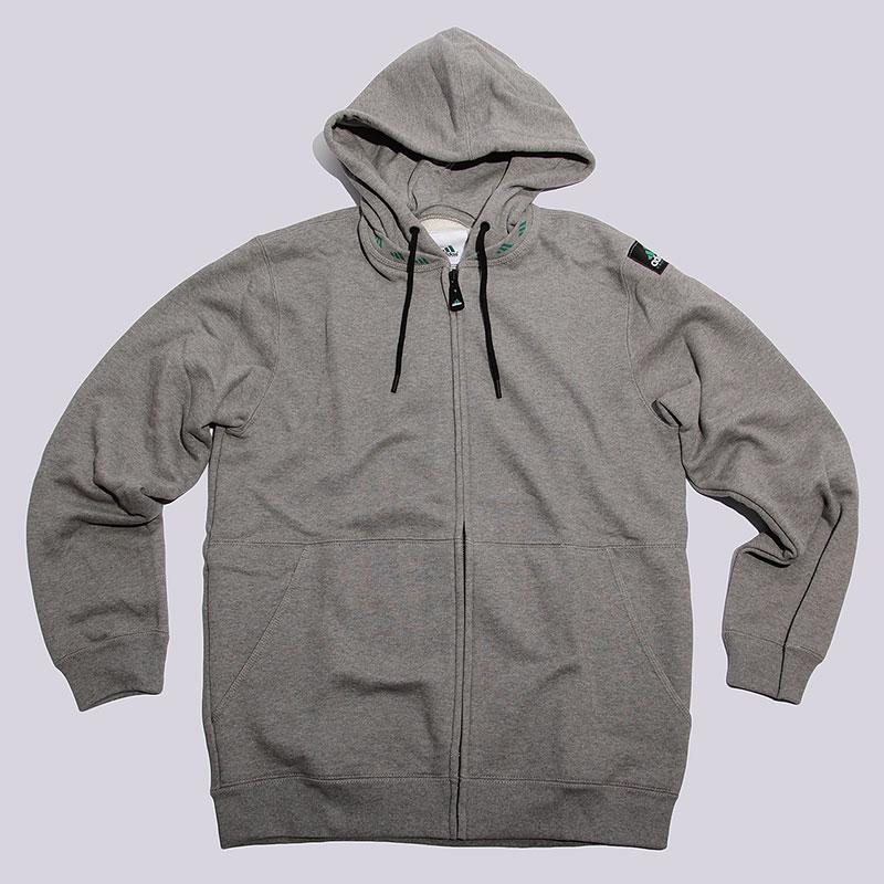 Толстовка adidas EQT Full ZipТолстовки свитера<br>80% хлопок, 20% полиэстер<br><br>Цвет: Серый<br>Размеры UK: S<br>Пол: Мужской