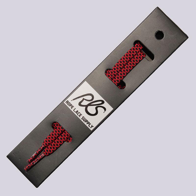 Шнурки Rope Lace Supply FlatШнурки<br><br><br>Цвет: Красный, черный<br>Размеры : OS