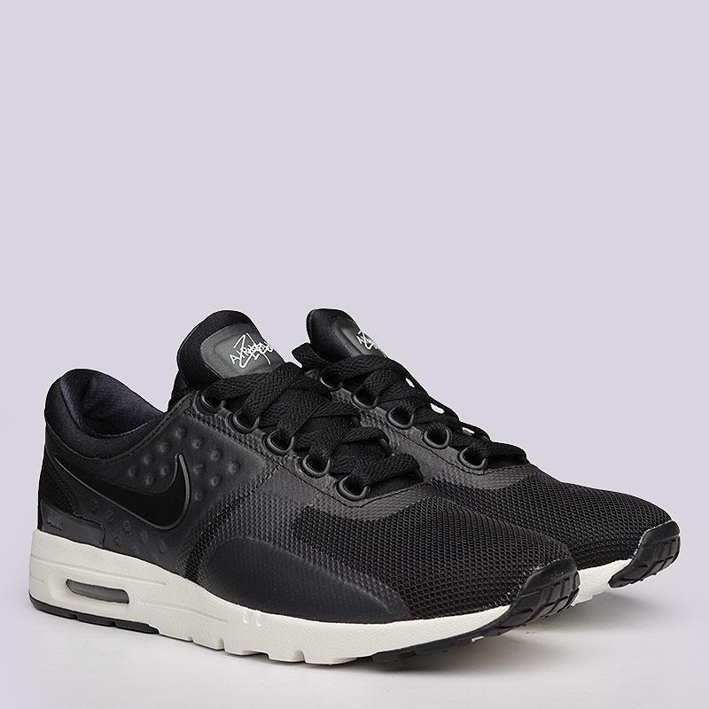 Кроссовки Nike Sportswear WMNS Air Max ZeroКроссовки lifestyle<br>Синтетика, текстиль, резина<br><br>Цвет: Черный<br>Размеры US: 6;6.5;7;7.5;8;8.5;9;9.5<br>Пол: Женский