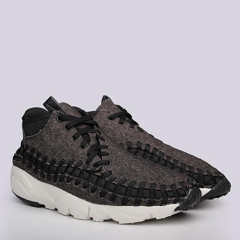 Кроссовки Nike Air Footscape Woven Chukka SEКроссовки lifestyle<br>Кожа, текстиль, резина<br><br>Цвет: Черный<br>Размеры US: 8<br>Пол: Мужской