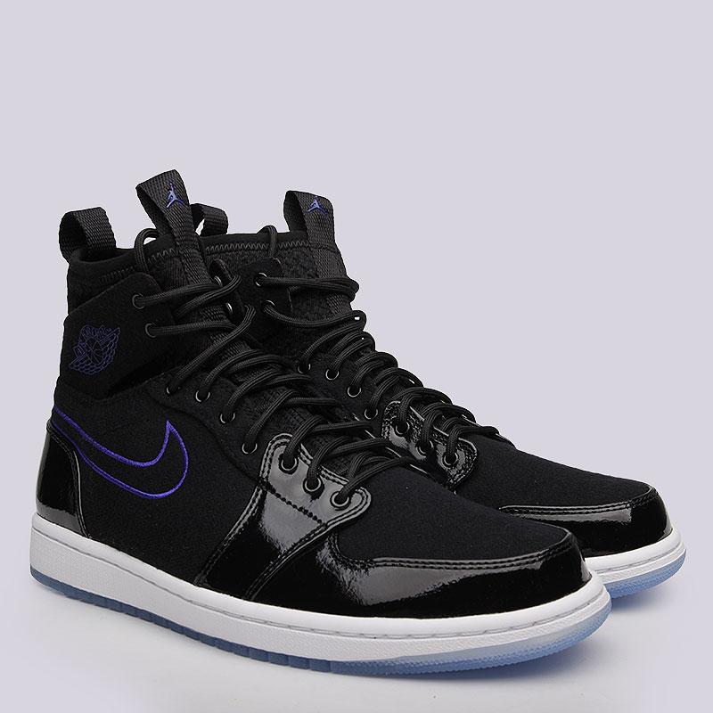 Кроссовки Jordan Air Jordan 1 Retro Ultra HighКроссовки lifestyle<br>Текстиль, кожа, резина<br><br>Цвет: Чёрный<br>Размеры US: 12.5<br>Пол: Мужской
