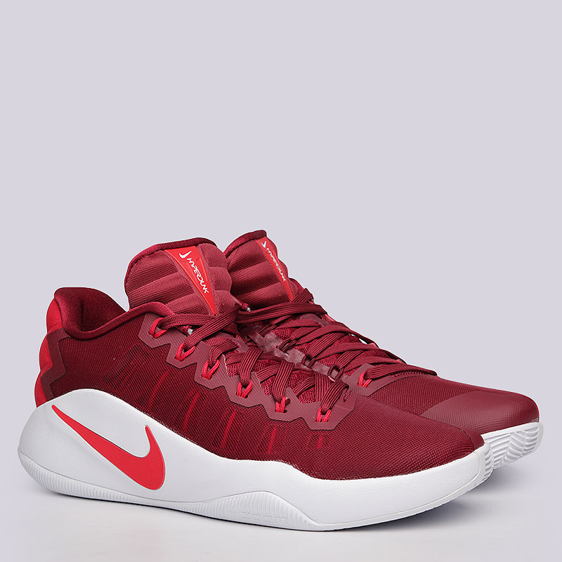 Кроссовки Nike Sportswear Hyperdunk 2016 LowКроссовки баскетбольные<br>Пластик, текстиль, резина<br><br>Цвет: Бордовый<br>Размеры US: 8;9.5;11.5;14<br>Пол: Мужской