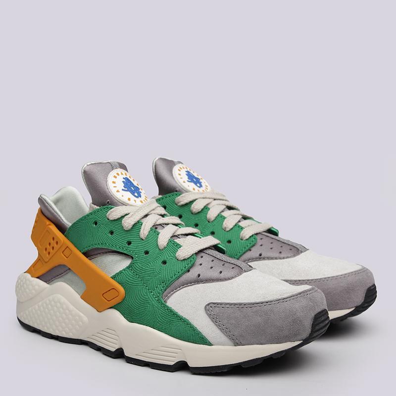 Кроссовки  Nike Sportswear Air Huarache Run SEКроссовки lifestyle<br>Текстиль, кожа, резина, пластик<br><br>Цвет: Зелёный, серый, жёлтый<br>Размеры US: 11<br>Пол: Мужской