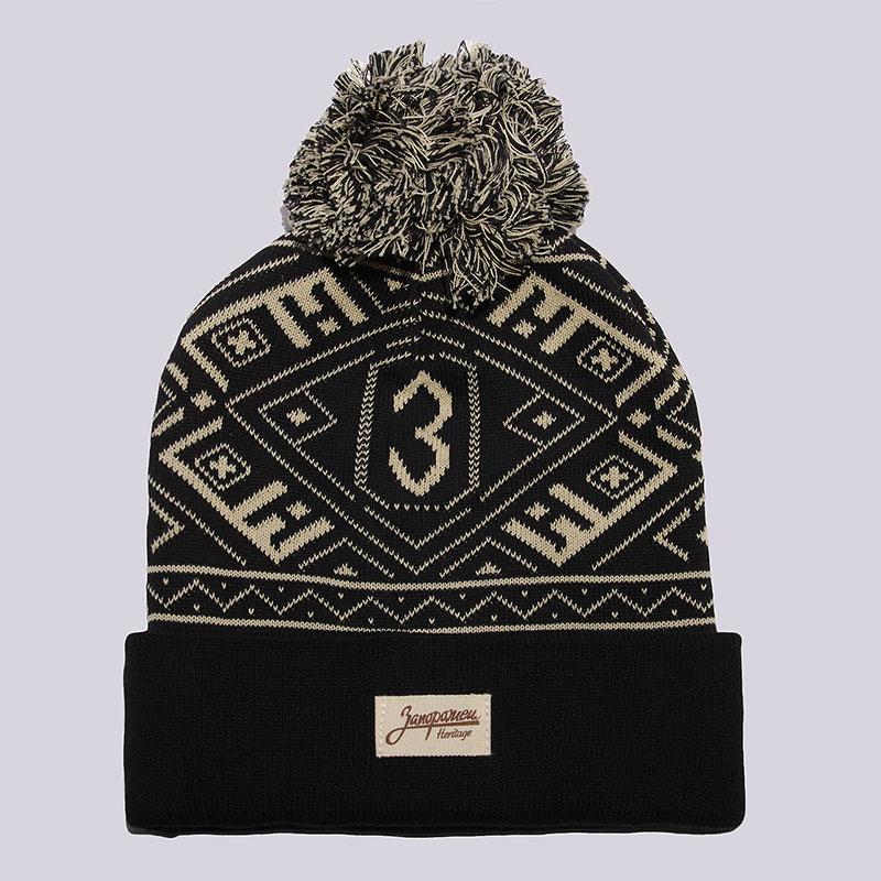 черную  шапка запорожец heritage uzor Uzor FW17-black - цена, описание, фото 1
