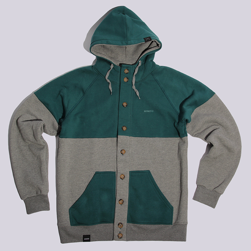 Толстовка Wemoto AldenТолстовки свитера<br>хлопок, полиэстер<br><br>Цвет: Зеленый<br>Размеры US: XL<br>Пол: Мужской