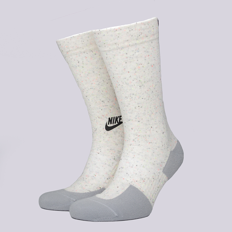 Носки Nike M NSW TCH PK CrewНоски<br>37% хлопок, 35% полиэстер, 24% нейлон, 4% эластан<br><br>Цвет: Светло-серый<br>Размеры US: M;L<br>Пол: Мужской