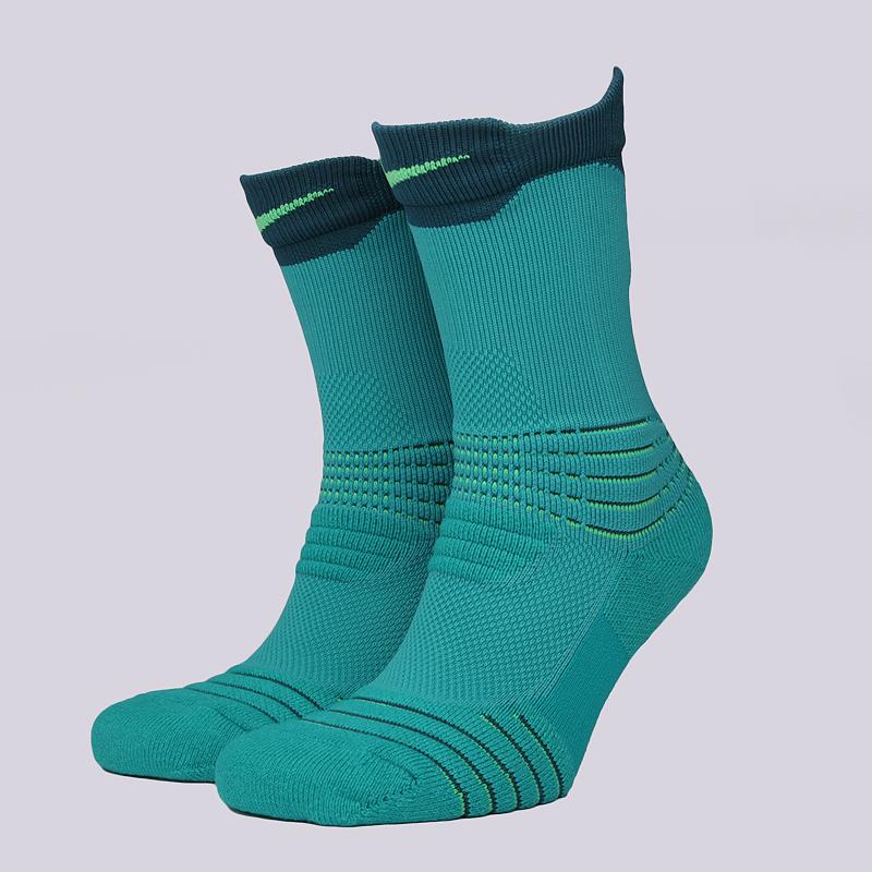 Носки Nike U NK ELT Versa CrewНоски<br>58% нейлон, 29% полиэстер, 9% хлопок, 4% эластан<br><br>Цвет: Бирюзовый<br>Размеры US: M;L;XL<br>Пол: Мужской