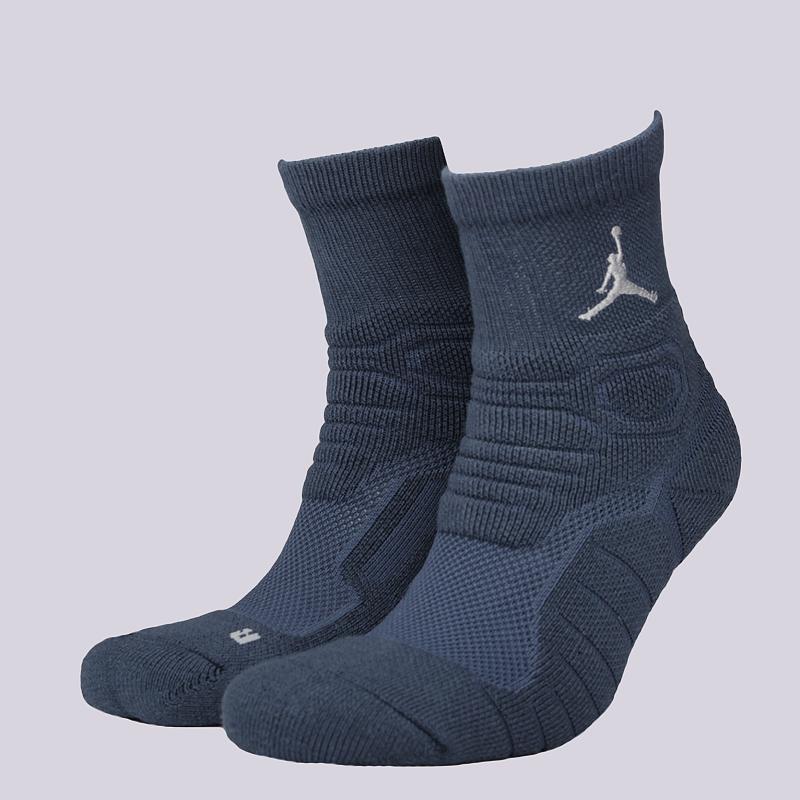 Носки Jordan Ultimate Flight QTR SockНоски<br>51% полиэстер, 29% нейлон, 13% хлопок,, 7% эластан<br><br>Цвет: Синий<br>Размеры US: M;L;XL<br>Пол: Мужской