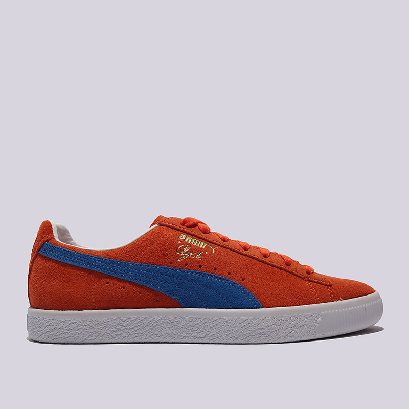 Кроссовки Puma Clyde NYCКроссовки lifestyle<br>Кожа, текстиль, резина<br><br>Цвет: Оранжевый<br>Размеры UK: 7.5;8;8.5;9;10;11<br>Пол: Мужской