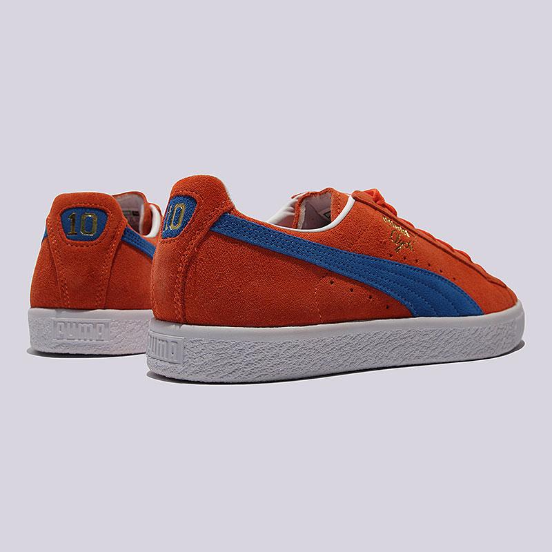 мужские оранжевые  кроссовки puma clyde nyc 36135501 - цена, описание, фото 2