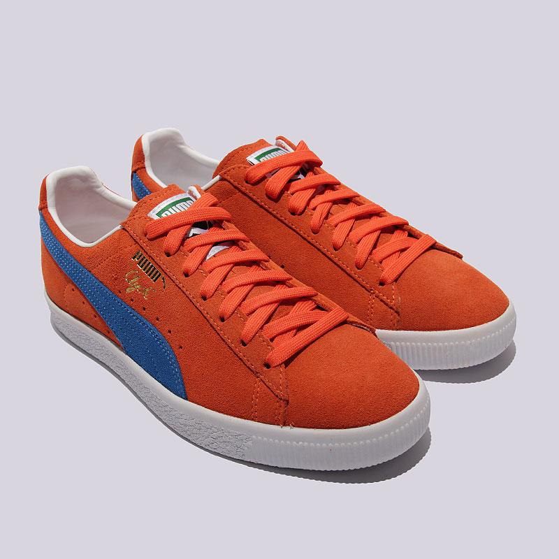 мужские оранжевые  кроссовки puma clyde nyc 36135501 - цена, описание, фото 3