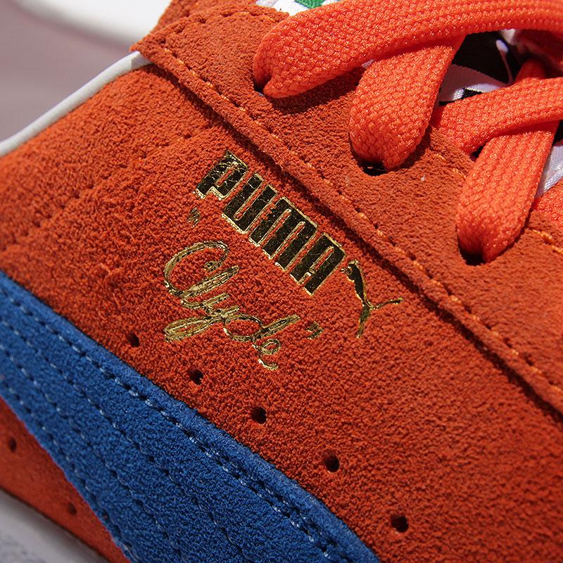 мужские оранжевые  кроссовки puma clyde nyc 36135501 - цена, описание, фото 5