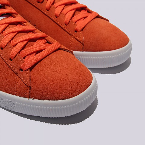 мужские оранжевые  кроссовки puma clyde nyc 36135501 - цена, описание, фото 6