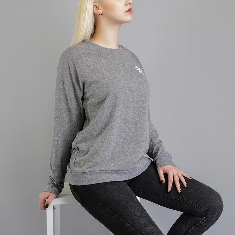 Толстовка Stussy Puff Stock CrewТолстовки свитера<br>50% полиэстер, 37% хлопок, 13% район<br><br>Цвет: Серый<br>Размеры US: XS;M<br>Пол: Женский