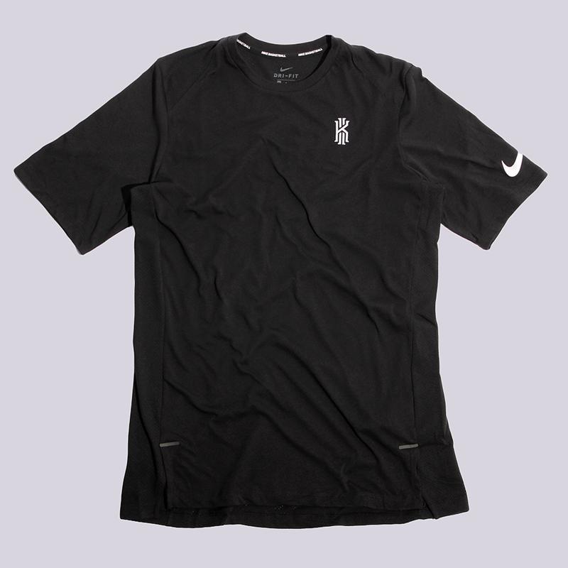 Футболка Nike KyrieФутболки<br>75% полиэстер, 13% хлопок, 12% вискоза<br><br>Цвет: Черный<br>Размеры US: S;M;L;XL;2XL<br>Пол: Мужской