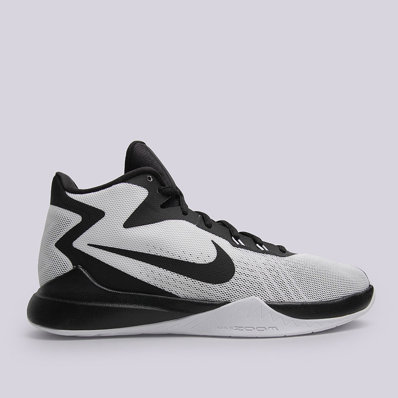 Кроссовки Nike Zoom EvidenceКроссовки баскетбольные<br>Текстиль, резина, пластик<br><br>Цвет: Черный, белый<br>Размеры US: 11.5<br>Пол: Мужской