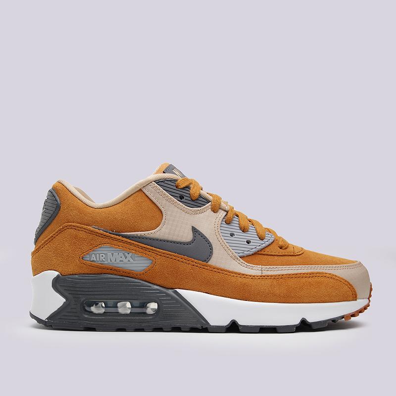 Кроссовки Nike Sportswear Air Max 90 PRMКроссовки lifestyle<br>кожа, текстиль, резина<br><br>Цвет: Коричневый<br>Размеры US: 8;8.5;9;9.5;10;10.5;11;11.5;12;12.5;13<br>Пол: Мужской