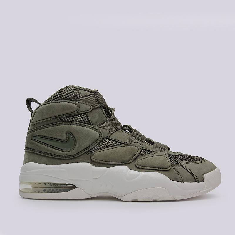 Кроссовки Nike Sportswear Air Max 2 Uptempo QSКроссовки lifestyle<br>кожа, текстиль, резина<br><br>Цвет: Зеленый<br>Размеры US: 10;11<br>Пол: Мужской