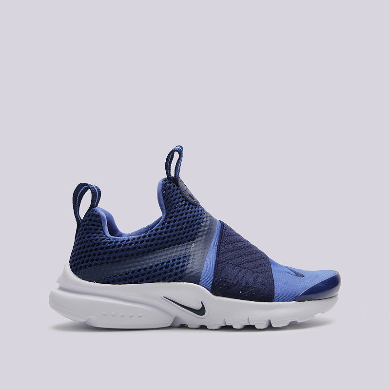 Кроссовки Nike Presto Extreme (PS)Кроссовки lifestyle<br>пластик, текстиль, резина<br><br>Цвет: Синий<br>Размеры US: 1Y<br>Пол: Детский