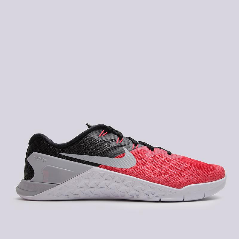 Кроссовки Nike Metcon 3Кроссовки lifestyle<br>пластик, текстиль, резина<br><br>Цвет: Черный, красный<br>Размеры US: 8;8.5<br>Пол: Мужской