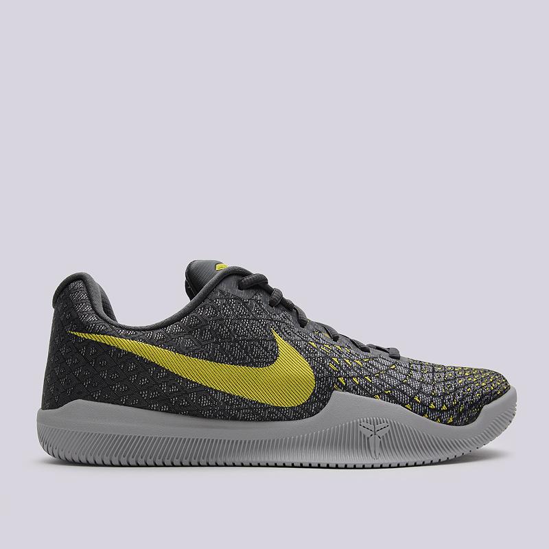 Кроссовки Nike Mamba InstinctКроссовки баскетбольные<br>пластик, текстиль, резина<br><br>Цвет: Серый<br>Размеры US: 8;8.5;9;9.5;10;11;12<br>Пол: Мужской