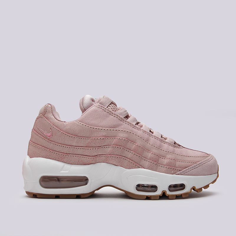 Кроссовки Nike Sportswear WMNS Air Max 95 PRMКроссовки lifestyle<br>кожа, текстиль, резина<br><br>Цвет: Розовый<br>Размеры US: 6;6.5;7;7.5;8;8.5<br>Пол: Женский