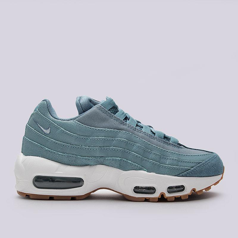 Кроссовки  Nike Sportswear WMNS Air Max 95 PRMКроссовки lifestyle<br>Кожа, текстиль, пластик, резина<br><br>Цвет: Голубой<br>Размеры US: 6.5;7;7.5;8;8.5<br>Пол: Женский