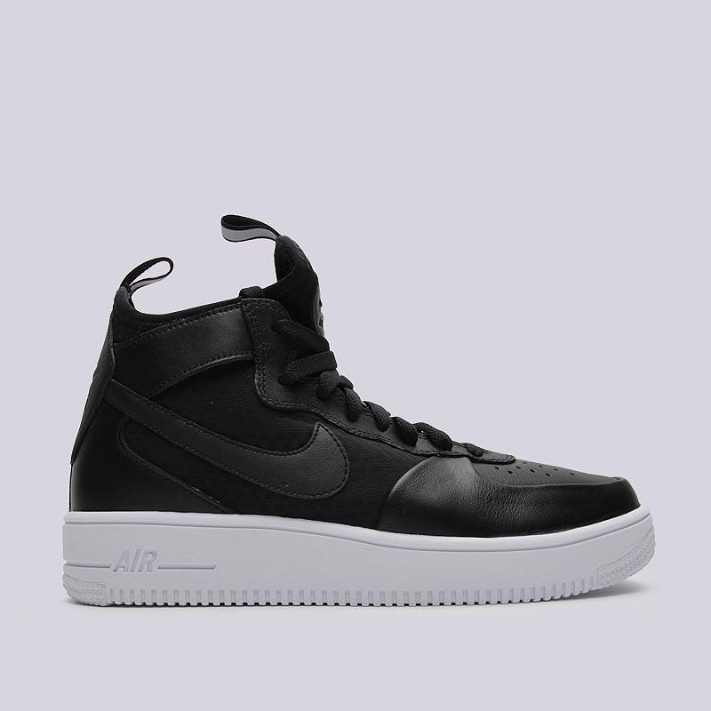 Кроссовки Nike Sportswear Air Force 1 Ultraforce MidКроссовки lifestyle<br>кожа, текстиль, резина<br><br>Цвет: Черный<br>Размеры US: 8.5;9<br>Пол: Мужской