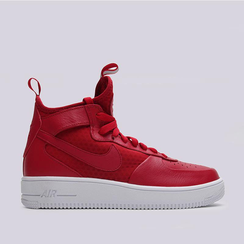 Кроссовки Nike Sportswear Air Force 1 Ultraforce MidКроссовки lifestyle<br>кожа, текстиль, резина<br><br>Цвет: Красный<br>Размеры US: 9<br>Пол: Мужской