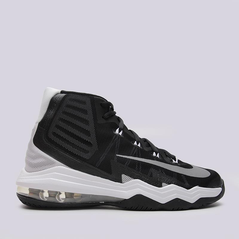 Кроссовки Nike Air Max Audacity 2016Кроссовки баскетбольные<br>пластик, текстиль, резина<br><br>Цвет: Черный<br>Размеры US: 8;8.5;9;14;15<br>Пол: Мужской