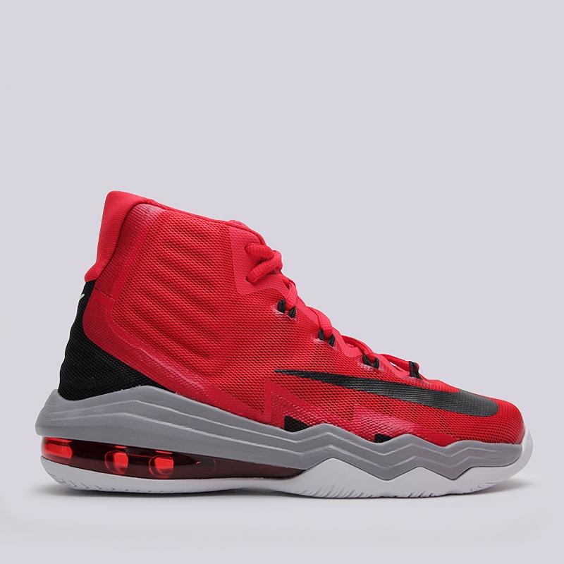Кроссовки Nike Air Max Audacity 2016Кроссовки баскетбольные<br>пластик, текстиль, резина<br><br>Цвет: Красный<br>Размеры US: 8.5;14<br>Пол: Мужской