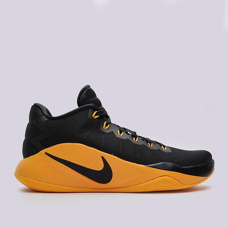 Кроссовки Nike Hyperdunk 2016 LowКроссовки баскетбольные<br>пластик, текстиль, резина<br><br>Цвет: Черный, желтый<br>Размеры US: 8;8.5;9.5;10;10.5;11;11.5;12.5<br>Пол: Мужской