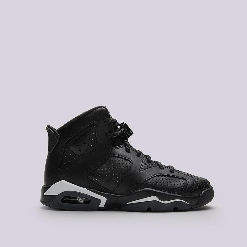 Кроссовки Air Jordan VI Retro BGКроссовки lifestyle<br>Кожа, текстиль, резина<br><br>Цвет: Чёрный<br>Размеры US: 4Y<br>Пол: Женский
