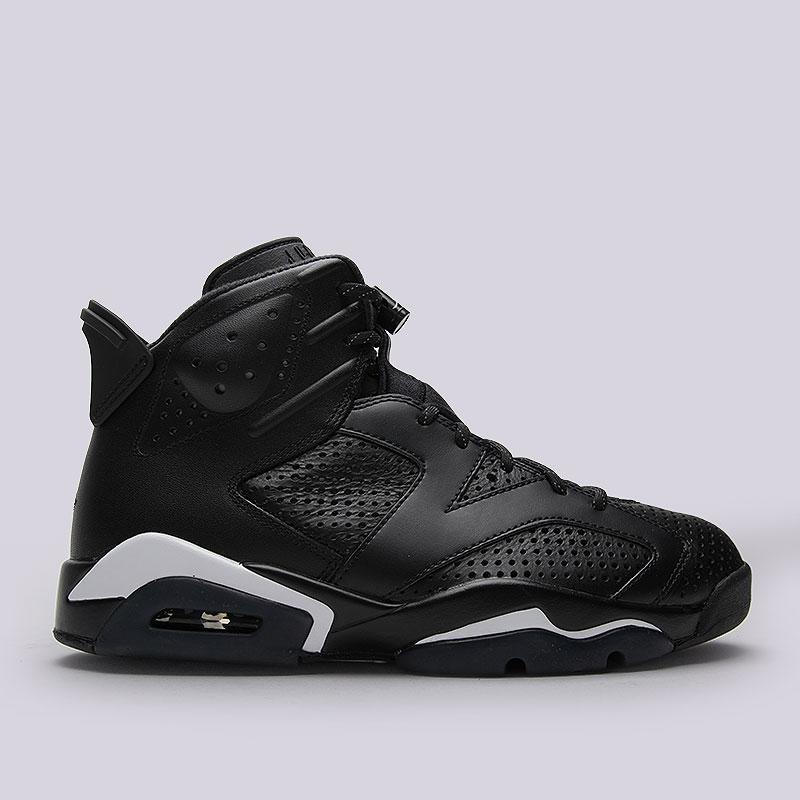 мужские чёрные кроссовки air jordan vi retro 384664-020 - цена, описание,  фото eb0340088ef