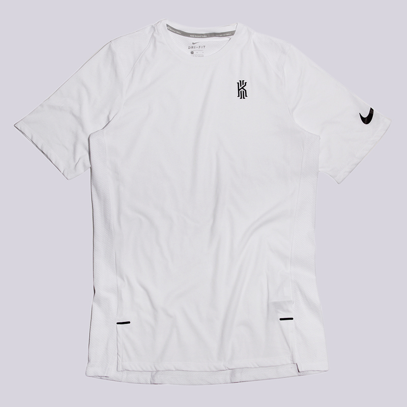 Футболка Nike KyrieФутболки<br>75% полиэстер, 13% хлопок, 12% вискоза<br><br>Цвет: Белый<br>Размеры US: S;M;L;XL;2XL<br>Пол: Мужской