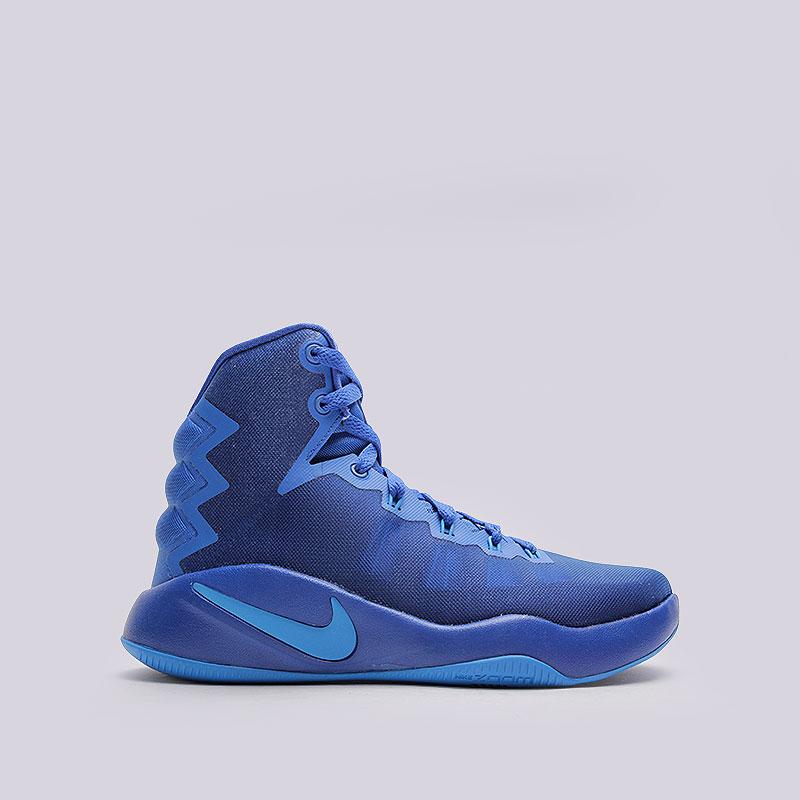 Кроссовки  Nike Hyperdunk 2016 (GS)Кроссовки баскетбольные<br>Текстиль, пластик, резина<br><br>Цвет: Синий<br>Размеры US: 3.5Y;4Y;5.5Y<br>Пол: Детский
