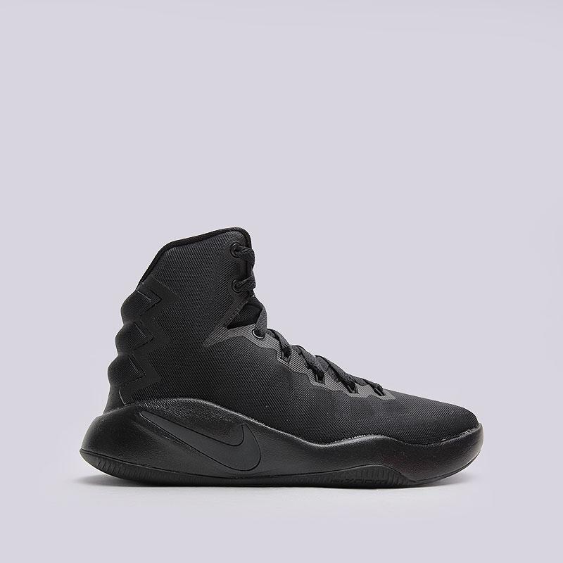 Кроссовки Nike Hyperdunk 2016 (GS)Кроссовки баскетбольные<br>Текстиль, пластик, резина<br><br>Цвет: Черный<br>Размеры US: 3.5Y;4Y;5Y;5.5Y;6Y;6.5Y<br>Пол: Детский
