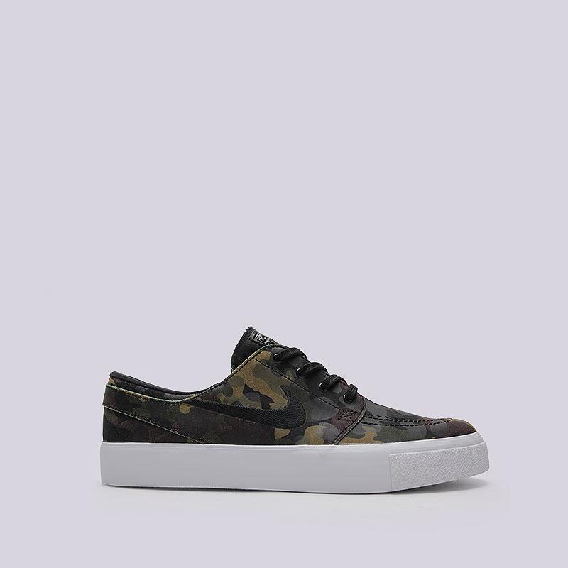 Кроссовки  Nike SB Zoom Stefan JanoskiКроссовки lifestyle<br>Кожа, текстиль, резина<br><br>Цвет: Камуфляж<br>Размеры US: 8;8.5;9;9.5;10;10.5;11;12<br>Пол: Мужской
