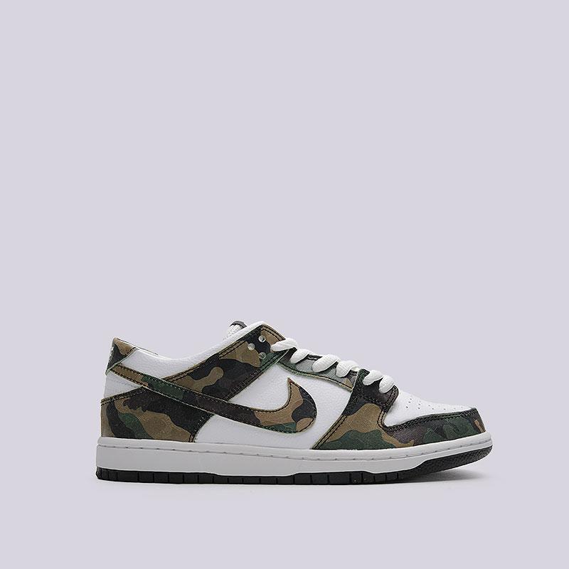 Кроссовки Nike SB Zoom Dunk Low ProКроссовки lifestyle<br>Кожа, синтетика, текстиль, резина<br><br>Цвет: Камуфляж<br>Размеры US: 11;11.5<br>Пол: Мужской