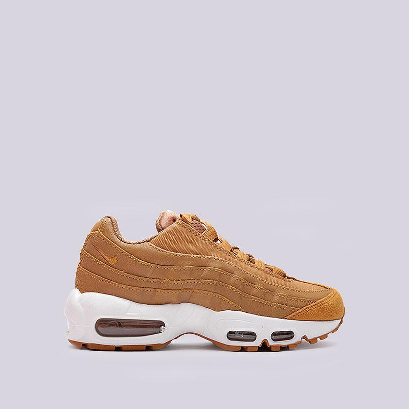 Кроссовки Nike WMNS Air Max 95 PRMКроссовки lifestyle<br>Кожа, текстиль, пластик, резина<br><br>Цвет: Песочный<br>Размеры US: 6.5;7;7.5;8<br>Пол: Женский