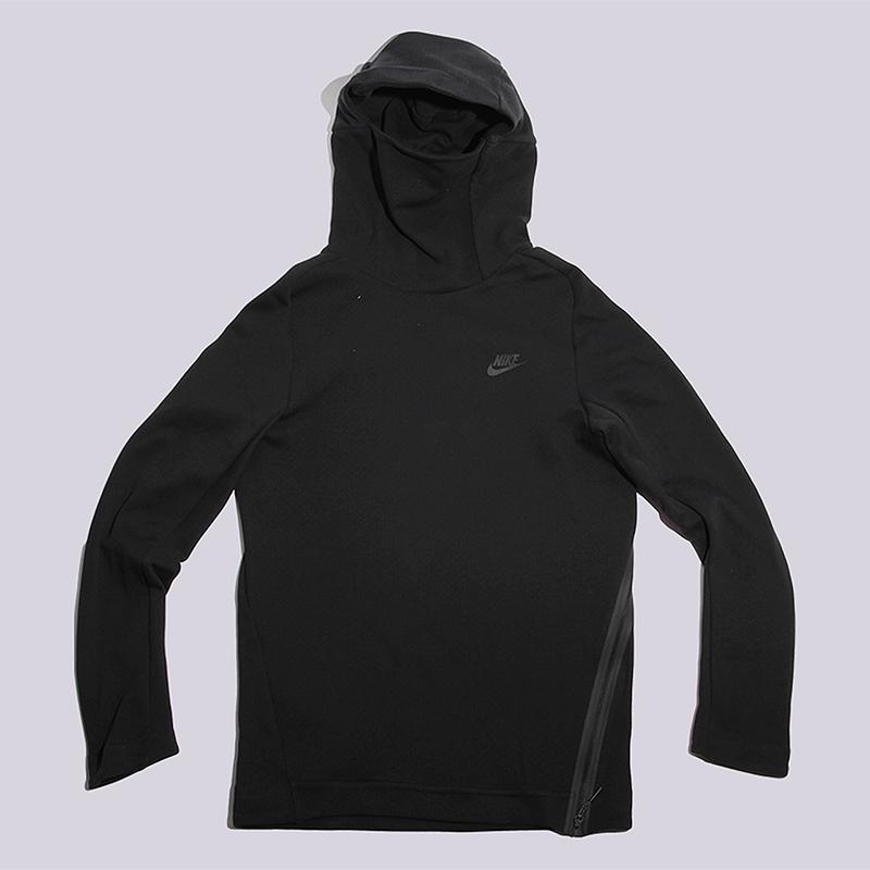 Толстовка Nike Sportswear NSW TCH FLS Hoodie POТолстовки свитера<br>78% хлопок, 22% полистер<br><br>Цвет: Черный<br>Размеры US: S;M;2XL<br>Пол: Мужской