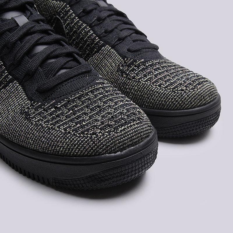 07894060 мужские чёрные кроссовки nike air force 1 ultra flyknit mid 817420-301 -  цена,