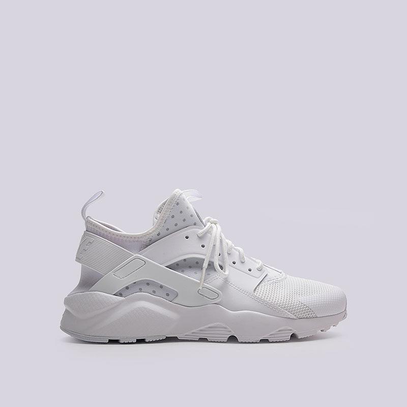 Кроссовки Nike Air Huarache Run UltraКроссовки lifestyle<br>Текстиль, пластик, резина<br><br>Цвет: Белый<br>Размеры US: 9.5<br>Пол: Мужской