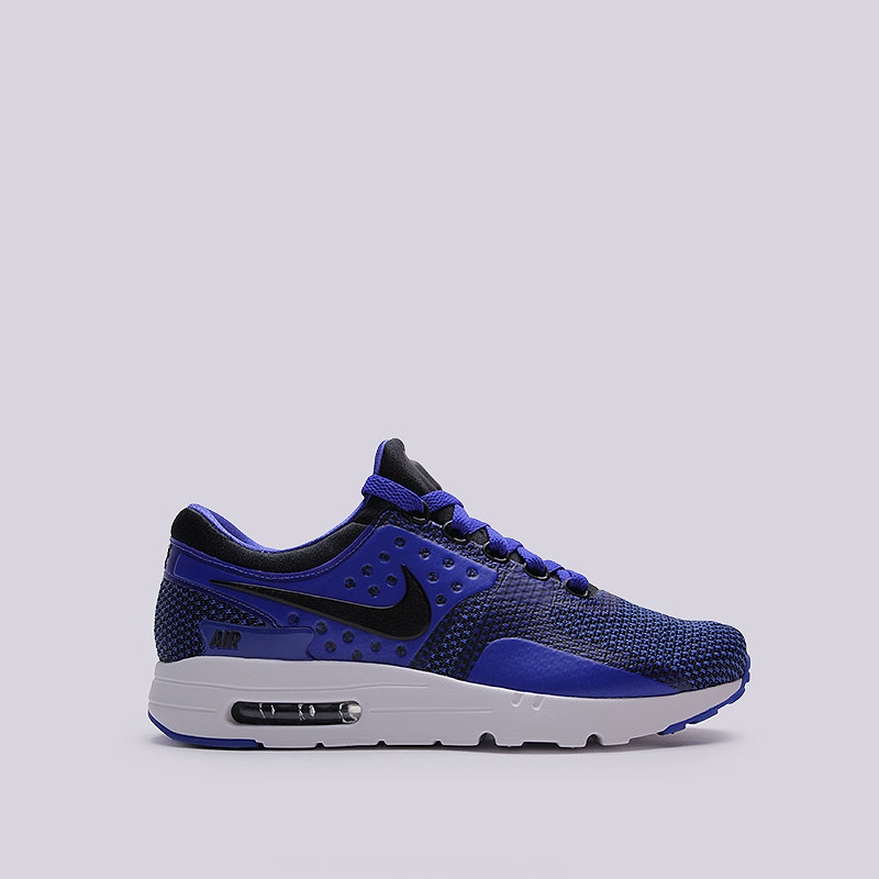 Кроссовки Nike Air Max Zero EssentialКроссовки lifestyle<br>Пластик, текстиль, резина<br><br>Цвет: Синий<br>Размеры US: 8;8.5;9.5;10.5;11<br>Пол: Мужской