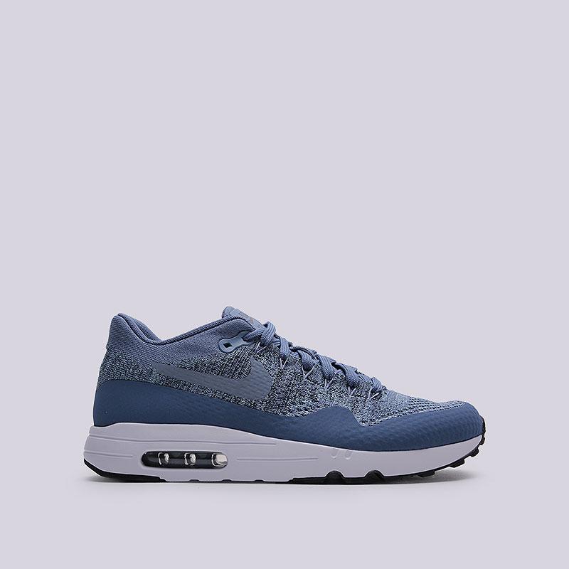 Кроссовки  Nike Sportswear Air Max 1 Ultra 2.0 FlyknitКроссовки lifestyle<br>Пластик, текстиль, резина<br><br>Цвет: Синий<br>Размеры US: 8;8.5;9;9.5;10;10.5;11;11.5;12<br>Пол: Мужской