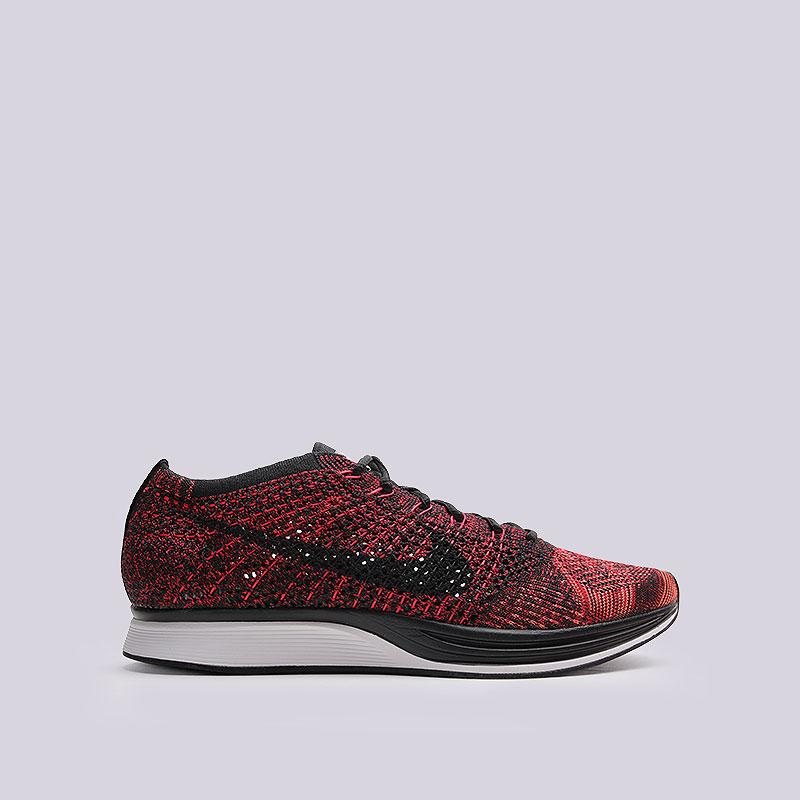 Кроссовки Nike Sportswear Flyknit RacerКроссовки lifestyle<br>Текстиль, резина, пластик<br><br>Цвет: Красный<br>Размеры US: 7.5<br>Пол: Мужской